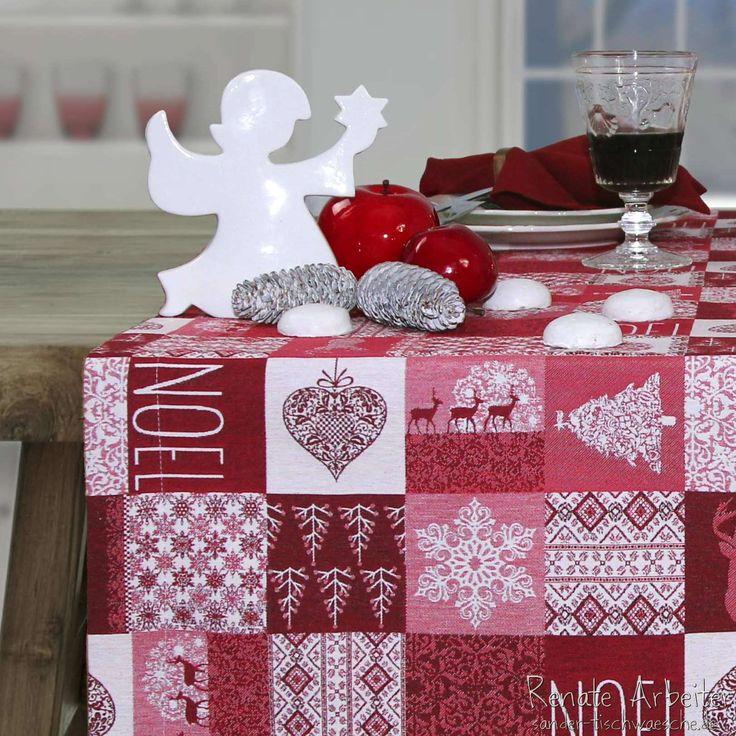 die besten 25 weihnachtstischdecke ideen auf pinterest weihnachtsfeiertisch rustikale. Black Bedroom Furniture Sets. Home Design Ideas