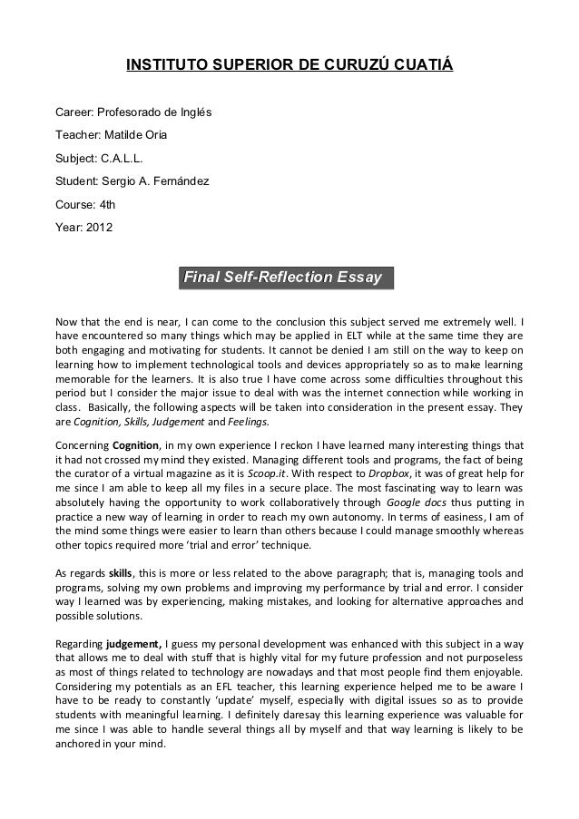 English Self Evaluation Essay - Submission specialist Money and
