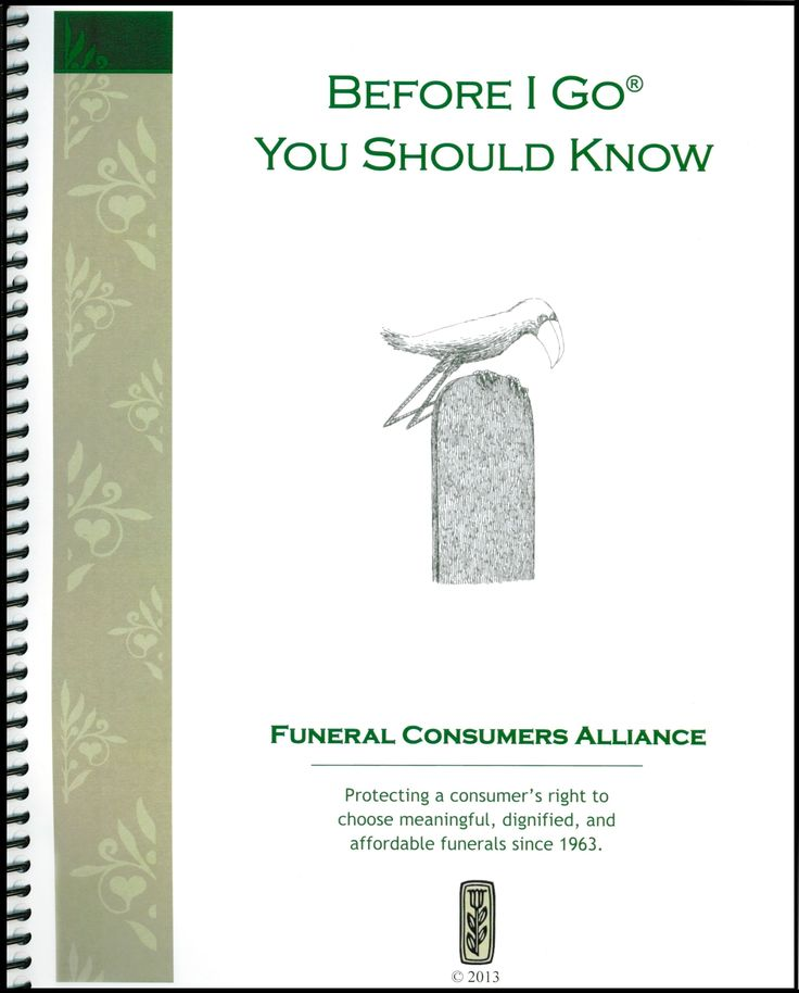 Book with your funeral plans, where your important papers are located, your wishes for your pets, your feelings about death. A comprehensive end of life planner. http://www.thefuneralsource.org/planning.html