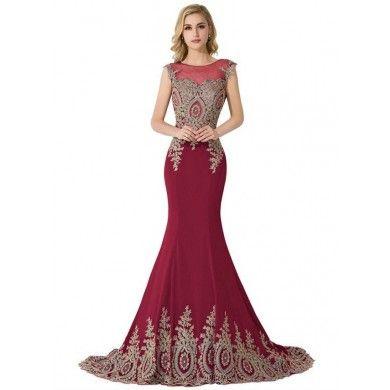 VESTIDO DE FESTA BORDADO V00005 - Vestido estilo sereia em cetim. Possui zíper lateral. Vestido Importado. Só R$ 659,00!!!