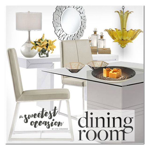 """Moritz Yellow Chandelier"" by ansev ❤ liked on Polyvore featuring interior, interiors, interior design, home, home decor, interior decorating, Possini Euro Design and lampsplus"