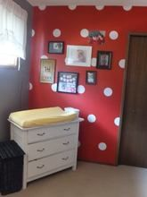 5inch polka dot wall stickers in white really make this nursery wall pop