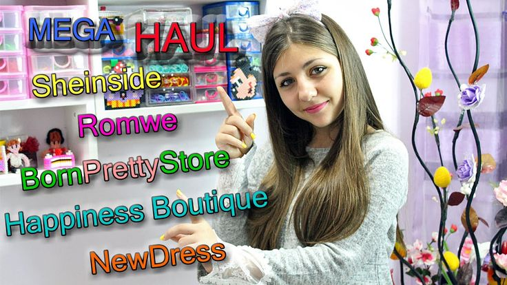 MEGA Collab Haul ♥ Sheinside ,Romwe, Happiness Boutique, NewDress, BornP...