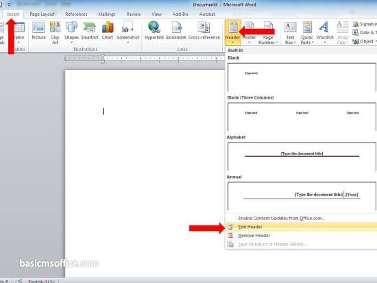 How to Insert Picture in Header and Footer in MS Word Document