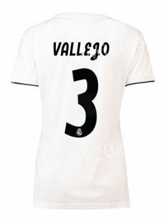 993393e2b 2018-19 Real Madrid Home White  3 (VALLEJO) Thailand Female Soccer Jersey