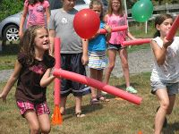 Today was the first day of Music Olympics camp and much of what we did included pool noodles! We twisted them, used half of them, climbed...