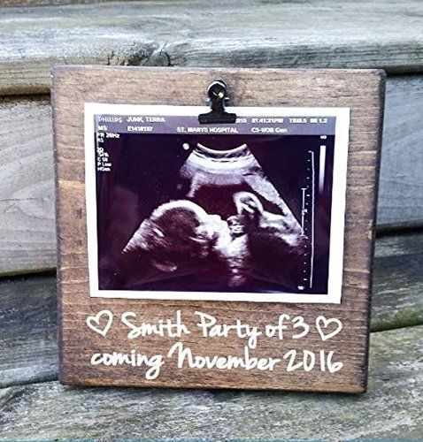 Ultrasound Picture frame perfect to show your first baby pictures to the world in these gorgeous handmade frames