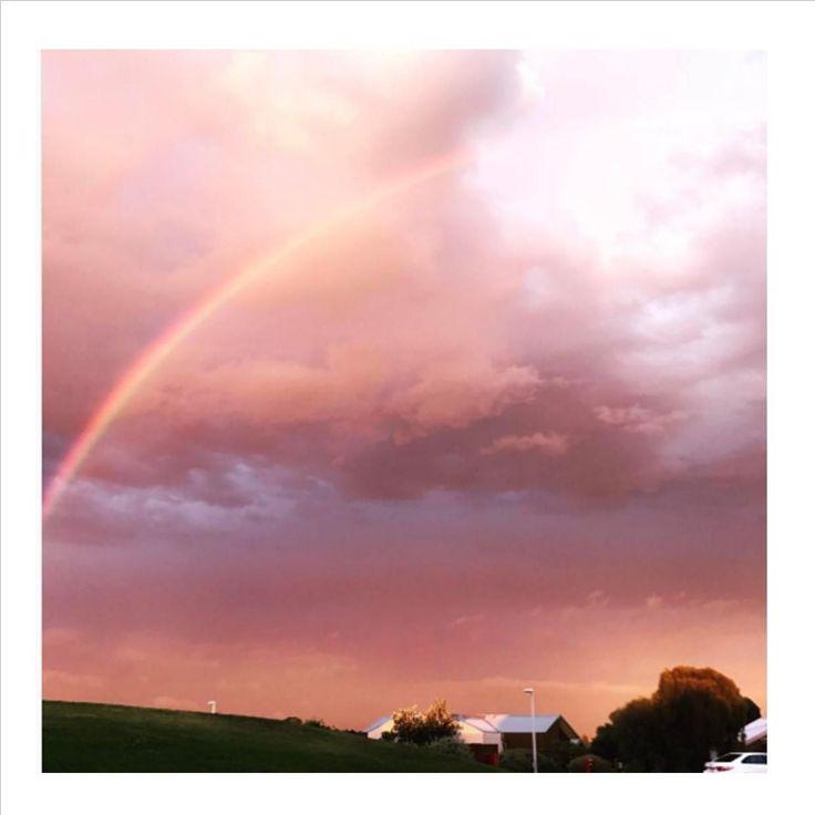 Rainbows & Pink Skies! #silverwaterresort @sodaman1976