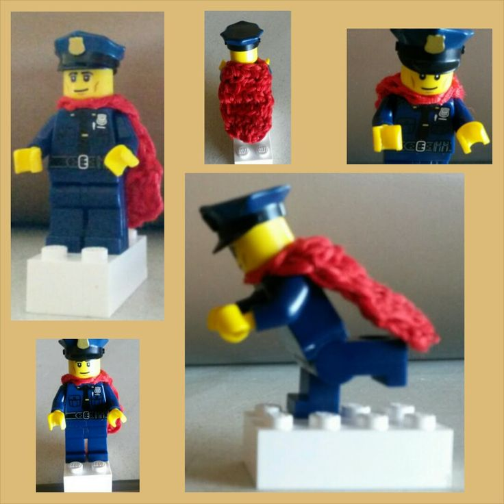 Lego Man Cape, crochet pattern, crochet for kids, crochet with sewing thread