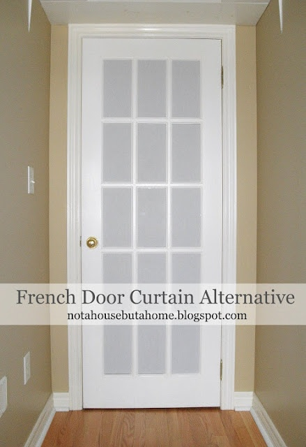 46 best french door window treatments images on pinterest bathroom not a house but a home tutorial diy french door curtain alternative solutioingenieria Gallery
