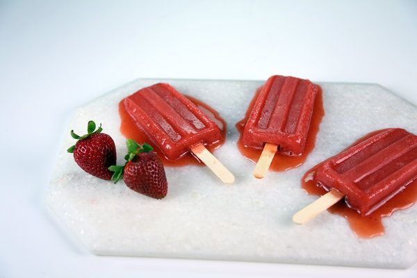 Watermelon Strawberry Ice Pops Recipe by Carla Hall | Desserts ...