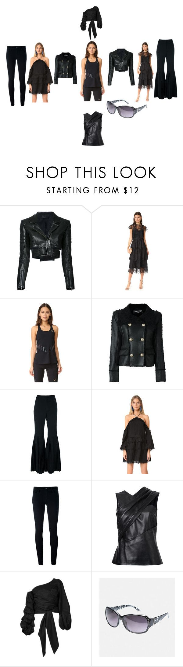 """BLACK DAY"" by ramakumari ❤ liked on Polyvore featuring Haider Ackermann, Parker, Lucas Hugh, Balmain, STELLA McCARTNEY, Stevie May, Levi's, Thierry Mugler, Johanna Ortiz and Avenue"