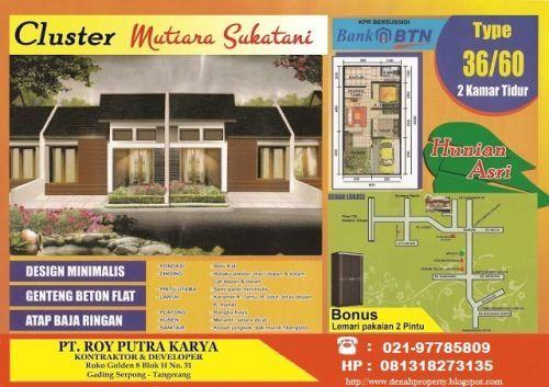 cluster subsidi mutiara sukatani jl.raya pasar kemis rajeg tangerang, sindang panon sukatani Pasarkemis » Tangerang » Banten