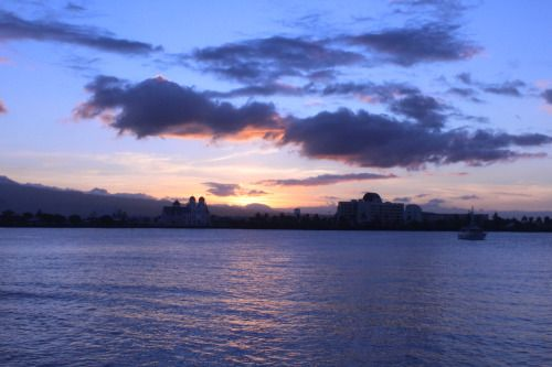 My first sunset in Apia, Samoa