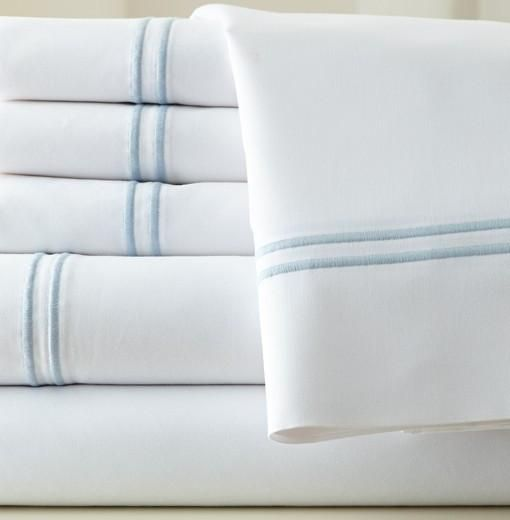 1000 Thread Count Egyptian Cotton Sheet Set (White/Blue) King https://www.rwsummerimports.com/collections/1000-thread-count-egyptian-cotton-sheet-set/products/1000-thread-count-egyptian-cotton-sheet-set-white-blue-king  R.W. Summer Imports