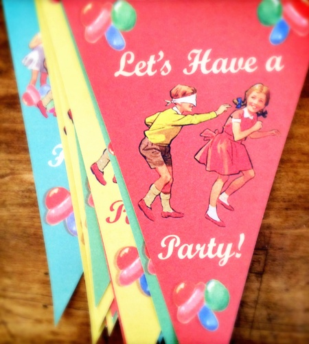 Vintage Children's Party Bunting