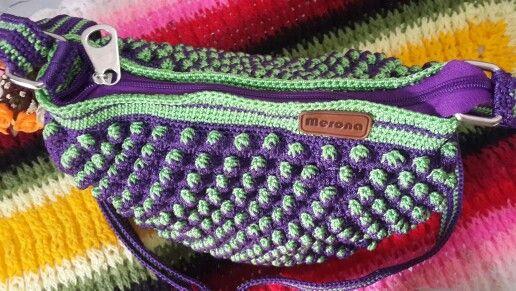 Strawberry crochet bag. Nylon yarn