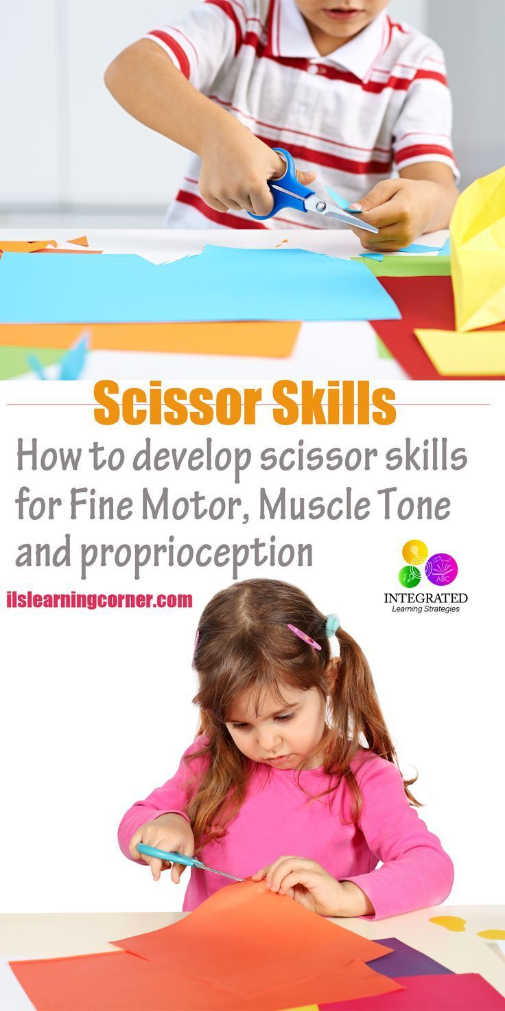Scissor Skills: Trouble with Scissor Skills Shows Signs of Poor Fine Motor, Muscle Tone and Proprioception   http://ilslearningcorner.com