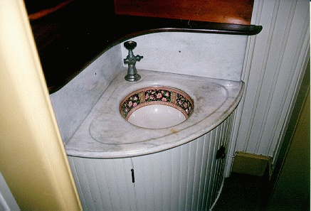 Cool mysterious sink in the Winchester Mystery House.