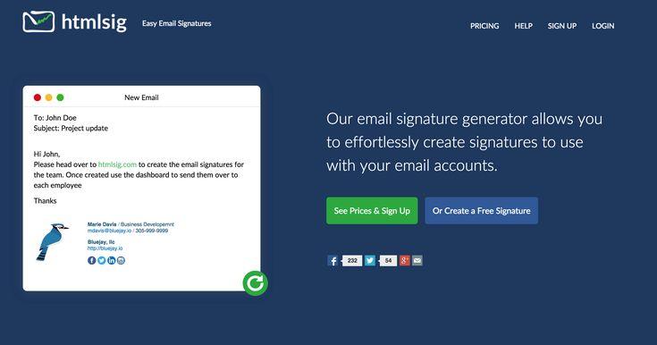 Email HTML Signature Generator - htmlsig.com  | Create a free HTML signature