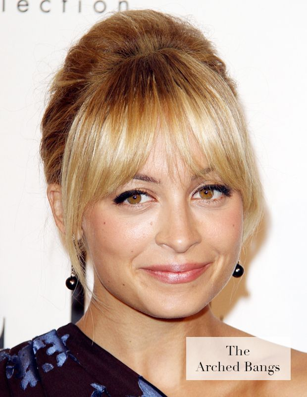 Arched bangs like Nicole Richie's simply ooze boho chic!