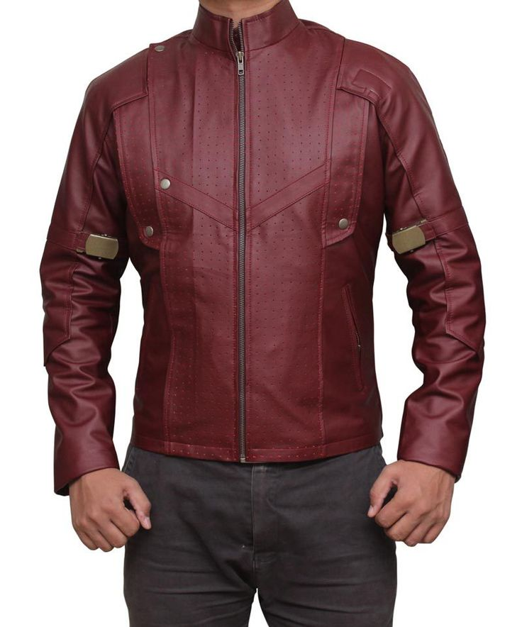 Star Lord Jacket Guardians of the Galaxy, Maroon Leather Jacket For Men, Celeb - Outerwear