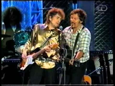 """All Along The Watchtower,"" followed by a duet with Bruce Springsteen on ""Forever Young"" at opening of the Rock and Roll Hall of Fame Museum at Cleveland Stadium, Cleveland, Ohio on 2 September 1995.  Wikipedia link:  http://en.wikipedia.org/wiki/Rock_and_Roll_Hall_of_Fame"