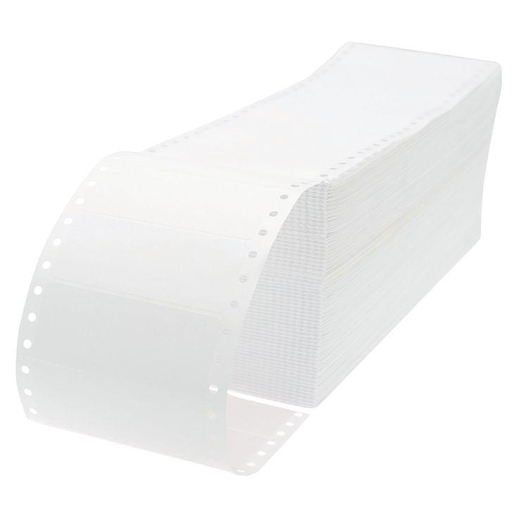 Universal Dot Matrix Printer Labels, 1 Across, 1-7/16 x 3-1/2, White, 5000/Box
