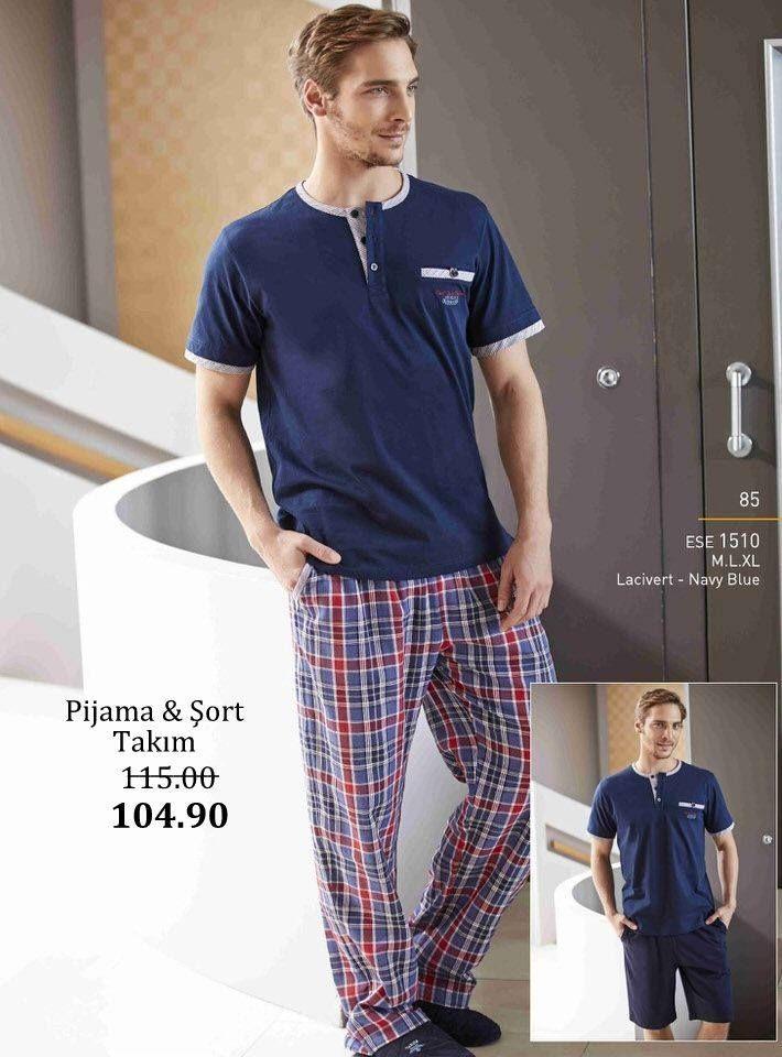 Eros, Yazlık Erkek Penye Pijama ve Şort Takım  #Eros 2015 Yaz Erkek Pijama Koleksiyonu pijama.com.tr'de! http://www.pijama.com.tr/erkek-pijama/Eros/73-46