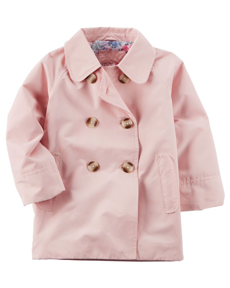Kid Girl Trench Coat from Carters.com. Shop clothing & accessories from a trusted name in kids, toddlers, and baby clothes.