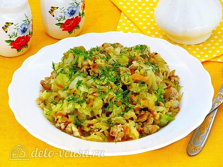 Тушеная капуста с овощами и мясом #капуста #овощи #мясо #рецепты #деловкуса #готовимсделовкуса
