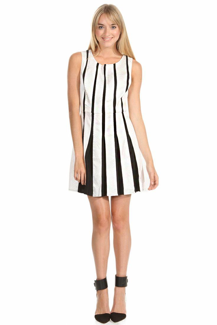 Harry and Zoe - Sensuous U Neck Stripes Dress, $89.00 (http://www.harryandzoe.com/sensuous-u-neck-stripes-dress/)