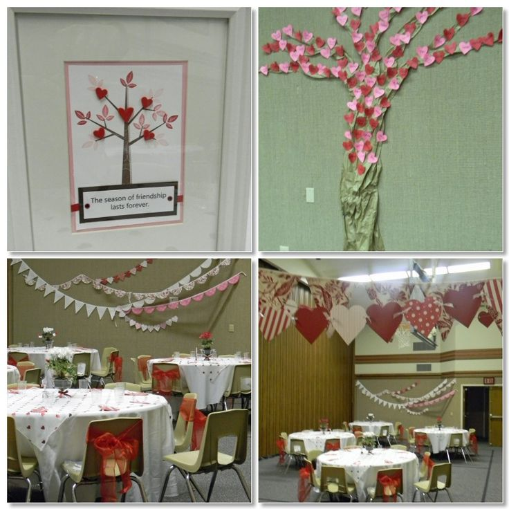 VT Conf - cute ideas & decor, esp. love the idea of each sister's name on a heart on a tree