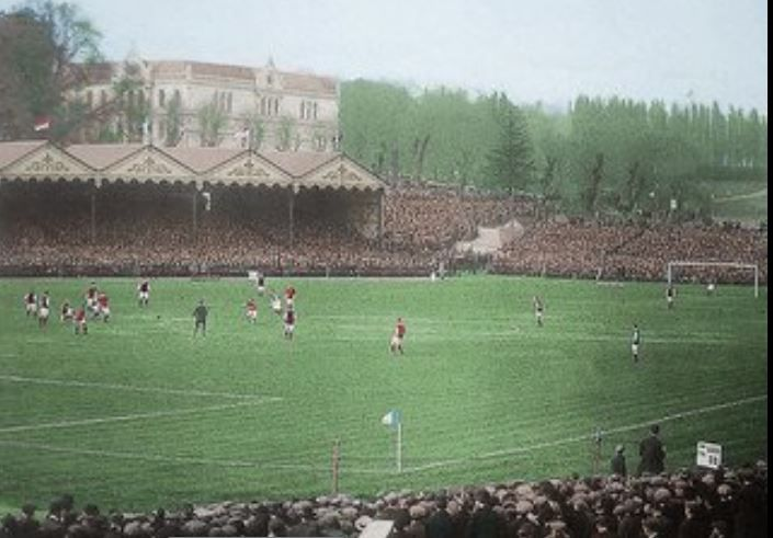1914 FA Cup Final at Crystal Palace Grounds | Courtesy of George Chilvers, encapsulating black & white in colour
