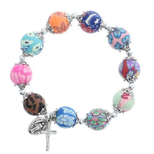 Lily Multi-Color Rosary Bracelet