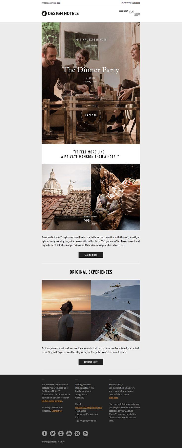 design hotels newsletter