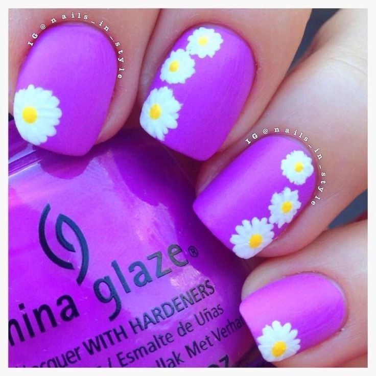Spring_Daisies_CG_Thats_Shore_Bright nail art bmodish