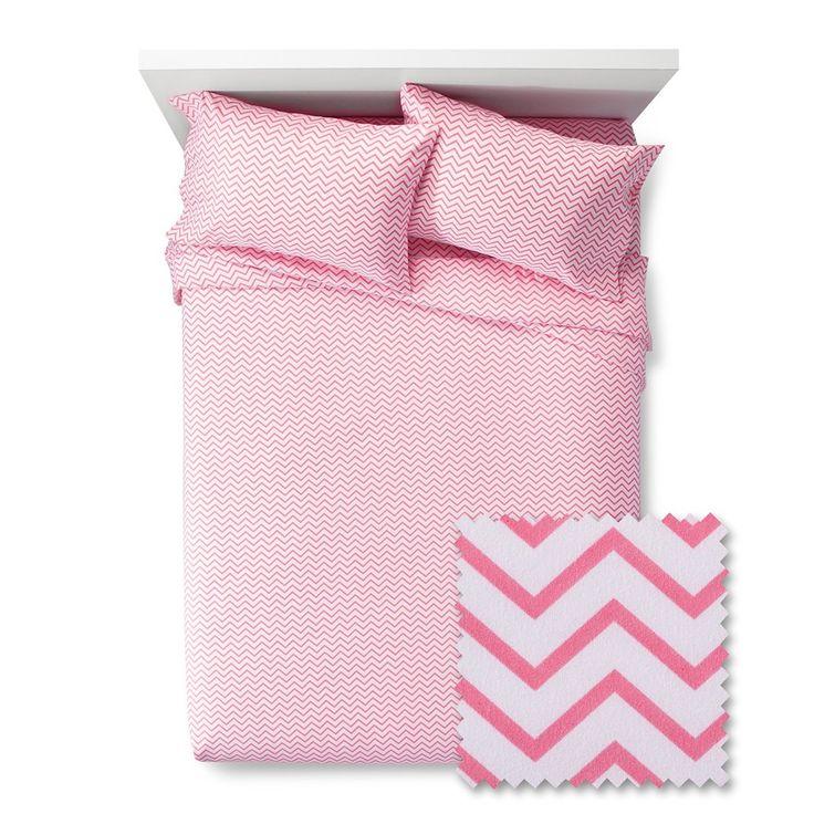 Chevron Sheet Set - Pillowfort, Pink Taffy
