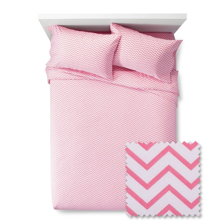 Chevron Sheet Set - Pillowfort, Pink Taffy