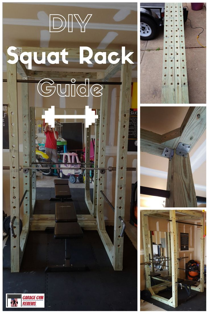 Diy squat rack guide diy fitness equipment at home gym diy