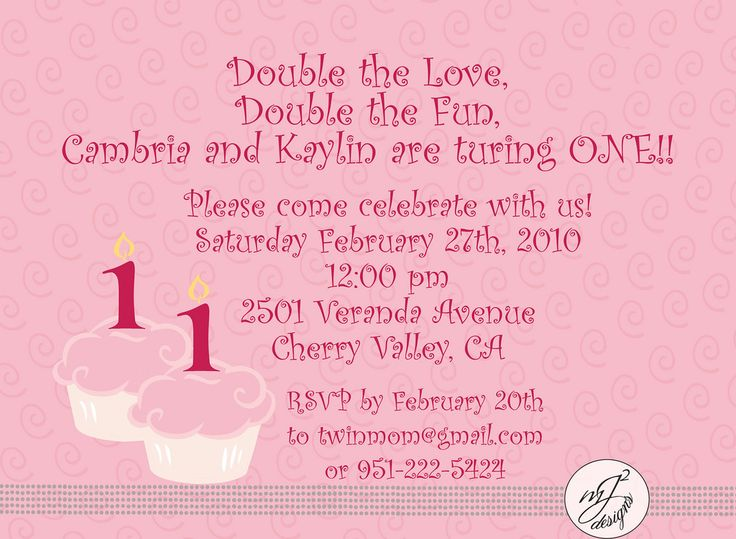 13 best twin 1st birthday images on pinterest twin birthday back of twin birthday invitation to my sontwin stopboris Gallery