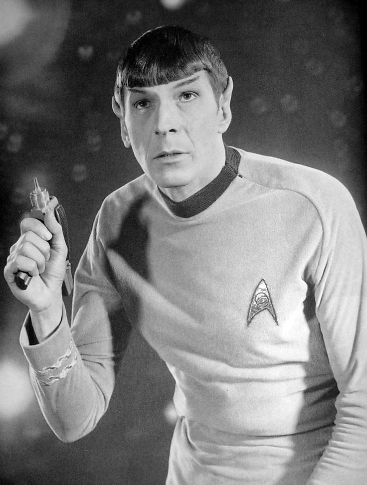 Leonard Nimoy (as Star Trek's Spock) - actor, director, poet, author, photographer, musician.