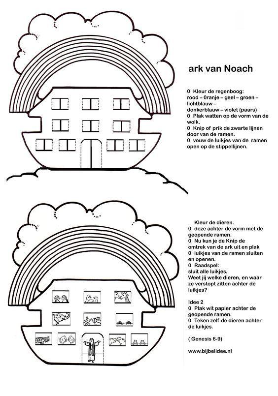 Ark van Noach - welke dieren zitten er achter de luikjes? http://bijbelidee.nl/bestanden/files/Speel%20mee/OT%20tot%207%20jaar/knutselwerkje/ark%20van%20noach.pdf