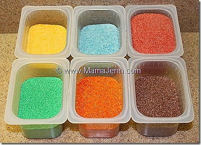 coloing sand tutorial - site has other great ideas for kids