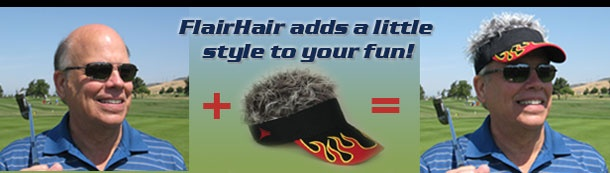 Flair Hair® Visor, The Original Visors With Hair. These are hilarious!
