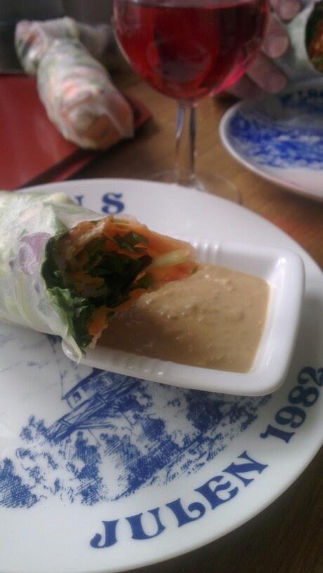 Vietnamese rolls for dinner.