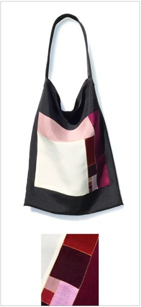 Silk Tote Bag 3 (created by the handmade craftmanship of Korean traditional Jogakbo/Pojagi)