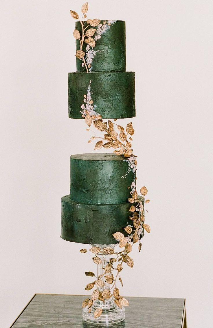 Moderne Chinoiserie inspirierte Hochzeitstorte | Kelli Durham Fotografie | Zwei werden mi …   – Cakes