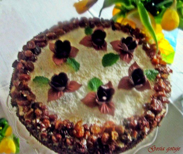 Gosia gotuje...: Tort makowo-migdałowy