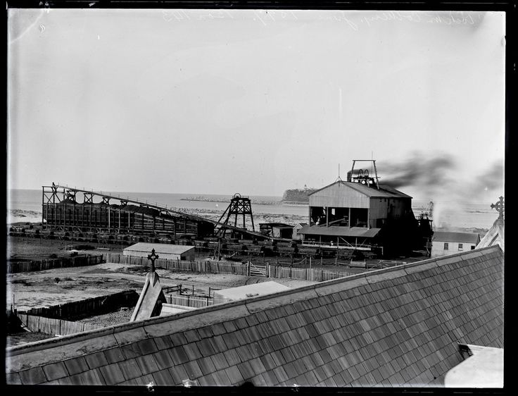 This image was scanned from the original glass negative taken by Ralph Snowball. It is part of the Norm Barney Photographic Collection, held by Cultural Collections at the University of Newcastle, NSW, Australia.  Notes: Stockton Colliery operated from 1884 to 10 January 1908.   This image can be used for study and personal research purposes.  If you wish to reproduce this image for any other purpose you must obtain permission by contacting the University of Newcastle's Cultural…